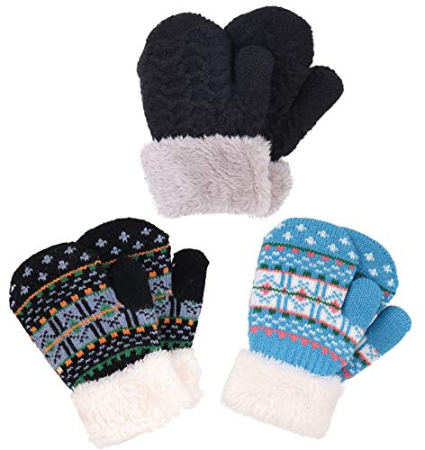 Verabella Toddler Mittens Boys Girl s Sherpa Lined Winter Mittens ... 4fb118f56876