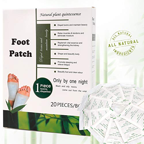 Foot Pads[20-Pack] Cleansing & Aromatherapy Foot Pads for Foot Care, Sleeping & Anti-Stress Relief, No Stress Packageing