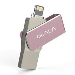 iPhone iPad 32GB USB Flash Drive 3.0 with Rotatable Protection, OLALA ID300 Pen Thumb Drive with Extended MFi Lightning Connector for iOS Mac Windows PC, External Storage Memory Stick (Rose Gold)
