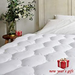 Bel Tesoro Quilted Extra Plush Mattress Pad Queen Combed Cotton Filled Cooling Mattress Topper Stretches Up To 8 21 Deep Pocket
