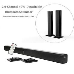 Discount Coupon Samtronic Detachable Soundbar TV Speaker, Flat Screen TV Sound Bar Wired & Wireless Bluetooth Sound Bars for TV, Home Theater 3D Surround Sound System soundbar Speaker for TV with Remote/Optical&MP3