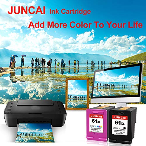 JUNCAI Remanufactured Ink Cartridge Replacement for HP 61XL 61 XL Combo  Pack for HP Envy 4500 5530 5534 5535 Deskjet 2540 1000 1010 1512 1510 3050