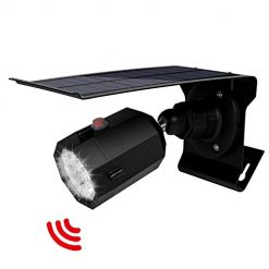 Solar Motion Sensor Light Outdoor 500Lumens 10 LED Spotlight 5-Watt Solar Lights Outdoor IP66 Waterproof Wireless Solar Flood Light for Pathway Porch Garden Patio Driveway (Black)