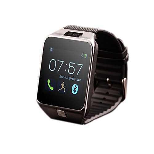 Bluetooth Smart Watch with Camera Smartwatch Touch Screen Phone Unlocked Watch with SIM Card Slot Smart Wrist Watch (Silver)