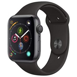 Best Smartwatch, Apple Watch Series 4 (GPS, 44mm) - Space Gray Aluminium Case with Black Sport Band