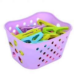 Ladiy Clothespin Socks Underwear Plastic Windproof Clothes Clip with Small Basket Clothes Pins