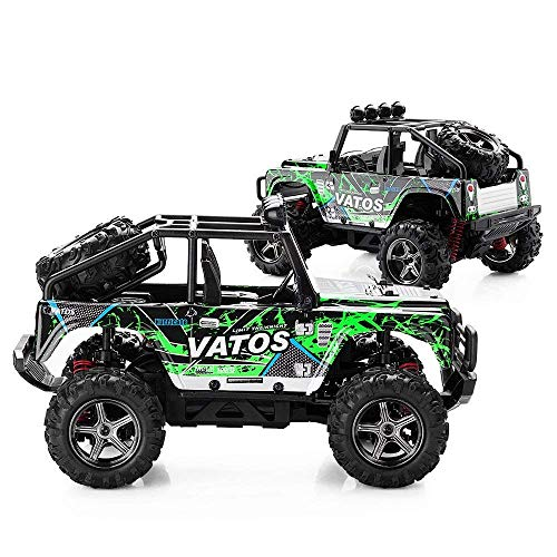 Vatos RC Car Off Road High Speed 4WD 40km/h 1:22 Remote Control Car Monster Truck Buggy Crawler (Green)