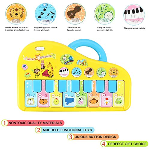 Baby Piano, Baby Musical Toys Piano Music Keyboard Toys for Infants, Toddler Piano Toys
