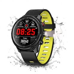 Best Smart Watches Men, Smart Watch, Wonbo Touchscreen Waterproof Sport Smartwatch,Fitness Tracker with All-Day Pedometer Heart Rate Sleeping Monitor, Call/Message Reminder Remote Control Music, Compatible with iOS & Android
