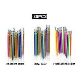 Erholi Child Student Writing Painting Stationery Colorful Fluorescence Gel Pen Core Highlighters