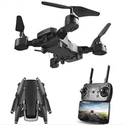 Mandii Mini Drone with Camera WiFi HD Live Video Feed Foldable RC Quadcopter, Remote Control Headless for Kids & Beginners--Altitude Hold, One Key Start, Foldable Arms