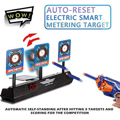 Marsz Electric Scoring Auto Reset Shooting Digital Target for Nerf Guns Blaster Elite/Mega/Rival Series, Detachable, 2019 Upgrade Version