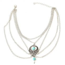Fanala New Women Multi-layers Beach Barefoot Ankle Jewelry Chain Anklet Anklets