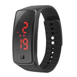 Caiuet Unisex Silicone LED Digital Creative Sport Watch Bracelet Outdoor Watches Boys Girls Gift Watch