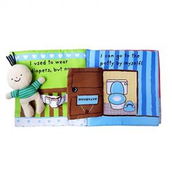 Ladiy Creative Cute Early Education Toy Book Baby Cloth Book Early Development Toys