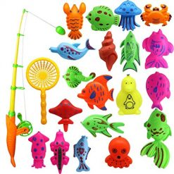 Onbay Cute Creative Baby Bathing Toy 22-Piece Magnetic Fishing Toy Set Bath Toys , Buy On Amazon, With Discount Coupon Code