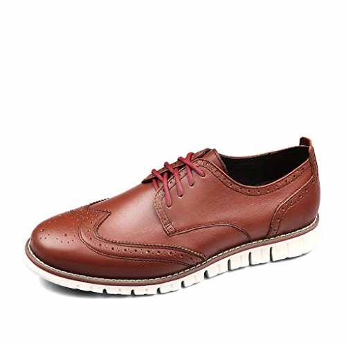 Laoks Shoes, LAOKS Men's Brogues Oxford Wingtip Genuine Leather Dress Shoes for Business Casual Lace-up