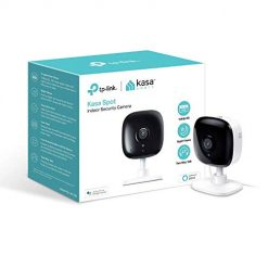 Kasa Indoor Camera, 1080P HD Smart WiFi Security Camera with Night Vision, Motion Detection, Remote Monitor, Works with Google Assistant and Alexa (KC100), nightlight hidden camera