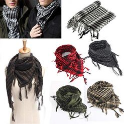 Shemagh Hiking, 100x100cm Outdoor Hiking Scarves Military Arab Tactical Desert Scarf Army Shemagh With Tassel For Men Women