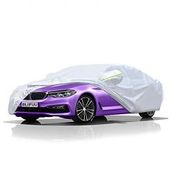 BLIIFUU Sedan Car Cover UV Protection Car Cover for Outdoor Indoor Waterproof/Windproof/Snowproof, Full Size Breathable Cover Fit Sedan (185