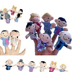 Edited Kids Plush Toy Cute Cartoon Finger Doll Parent-child Interactive Toy Plush Figures, Best Buy on Amazon With Discount Coupon Code