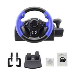 Xbox Steering Wheel, Gaming Racing Steering Wheel and Pedals, Compatible with PS4/PS3/PC/XBOX-ONE/XBOX-360/Switch/Android, Compatible with Multiple Platforms, Enjoy Multi-Style Racing Experience 250mm (9.84 inch)