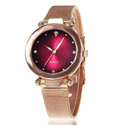 Caiuet Women Casual Rhinestone Round Shape Quartz Wristwatch Wrist Watches, With Coupon Discount on Amazon