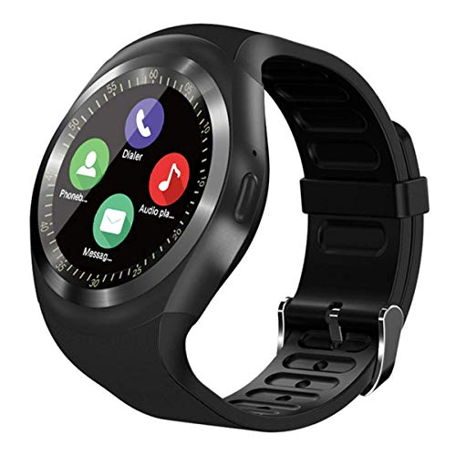 The Best Smart Watches, SEPVER Smart Watch SN05 Smartwatch Round Wrist Sport Watch with SIM Card Slot Touch Screen Camera Compatible with Samsung Huawei Xiaomi Sony LG Android Phones iPhone Men Women Kids Boys Girls (Black)
