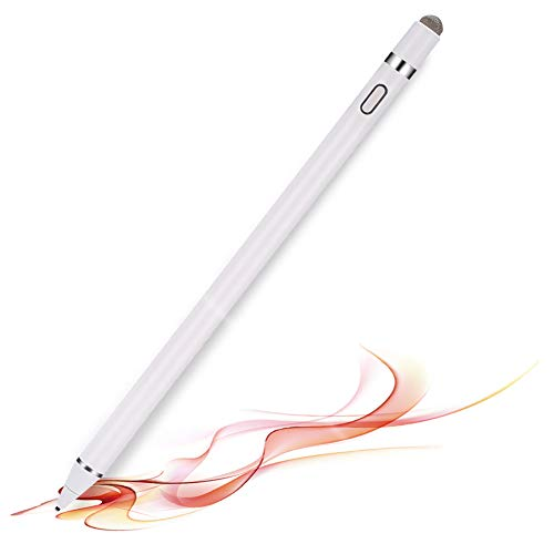 Active Stylus Digital Pen for Touch Screens,Compatible for iPhone 6/7/8/X/Xr iPad Samsung Phone &Tablets, for Drawing and Handwriting on Touch Screen Smartphones & Tablets (iOS/Android) (White)