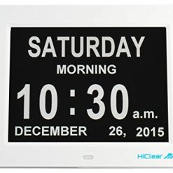 Hiclear Clock, Dementia, Alzheimer's, and Memory Loss Digital Calendar Day Clock for Elderly Seniors with Extra Large Day and Time Period