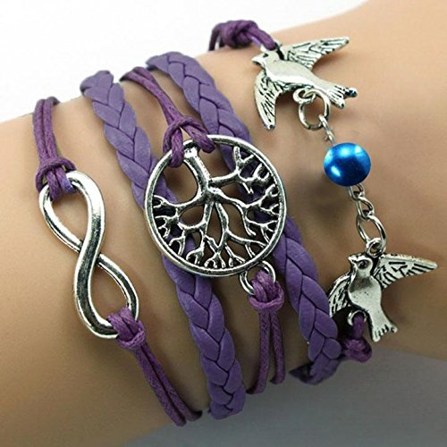 OYTRO 5 Colors Bangle Bracelet Tree of life Bracelet copper Bracelet Lover Birds Bracelet Bead Personalized Bracelet Wrap, Buy At Discount Price With Coupon Code