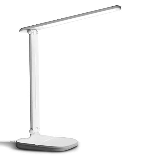 Student Eye Protection Folding USB Desk Lamp Dimmable LED Lamp(White)