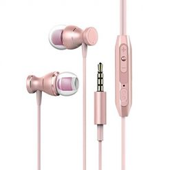 Ladiy 3.5mm Wired with Microphone in- Ear Earphones Magnetic Attraction Earbuds Corded Headsets