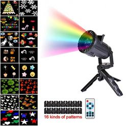 Keruite Christmas Led Lights - Snowflake Projector Snowfall LED Lights Waterproof Landscape Decorative Lighting for Holiday New Year Xmas Party Outdoor