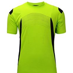 T Shirt for Men,Men's Quick Dry Shirt,Polyester Sportswear Moisture Wicking Short-Sleeve Tee Lime Green XX-large