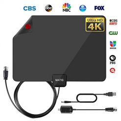 Amplified HD Digital TV Antenna Long Miles Range -Television Local Channels Signal Amplifier