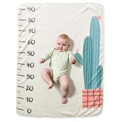 Baorin Baby Cartoon Printed Photography Backdrop Soft Baby Milesto Receiving Blankets