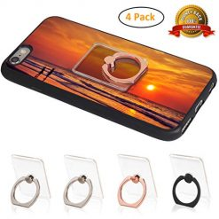 Phone Ring Holder Clear Cell Phone Ring Stand 360° Rotation Transparent