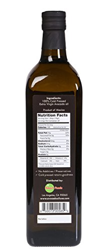 lombardi avocado oil, 2 Pack Lombardi Extra Virgin Avocado Oil 67.6 fl oz (2 x 33.8 fl oz) Premium Quality 2 Liters (2 x 1 Liter) Kosher Non-GMO Product of Mexico Cold Pressed for Cooking, Backing, Salad Dressing