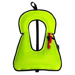 Queind Adults and Children's Inflatable Swimsuit Inflatable Vest Swimming Ring Life Jackets & Vests