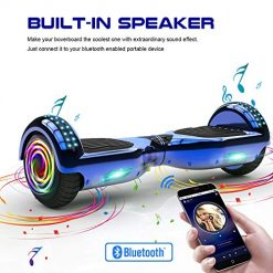 Bluetooth Hoverboard with LED Light,Self Balancing Hover Board,Two Wheel Self Balance Scooter,UL Certified(Samsung Powerful Battery) with Free Sport Bag (Black-65c)