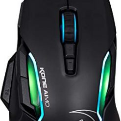 ROCCAT KONE Aimo Gaming Mouse – High Precision, Optical Owl-Eye Sensor (100 to 12.000 DPI), RGB Aimo LED Illumination, 23 Programmable Keys, Designed in Germany, USB, Black