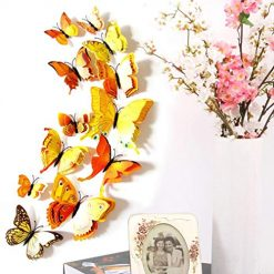 Caiuet Keland 12 Pcs Three-Dimensional PVC Simulation Butterfly Wall Stickers