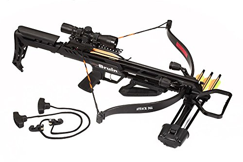 Best Crossbow, Bruin Attack 265 Recurve Crossbow Package w/Scope, Bolts, Quiver, Cocking Rope
