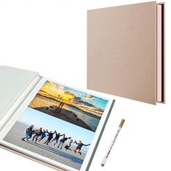 Self Adhesive Photo Album, 40 Pages Magnetic Scrapbook Album with A Metallic Pen