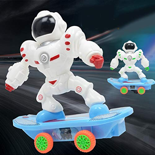 OYTRO Battery Powered Dancing Scooter Robot Musical Flashing Lights Kids Fun Toy Sk Remote & App-Controlled Figures Robots