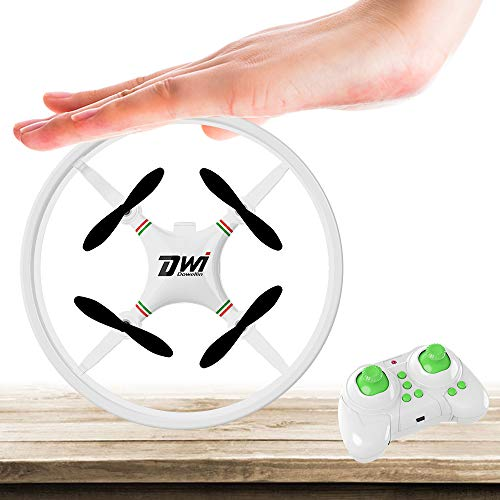 Dwi Drone Dwi Dowellin Mini Drone for Kids Beginners Indoor RC Quadcopter 2.4Ghz 4CH 6-Axis Nano Drones RTF Helicopter D1 White