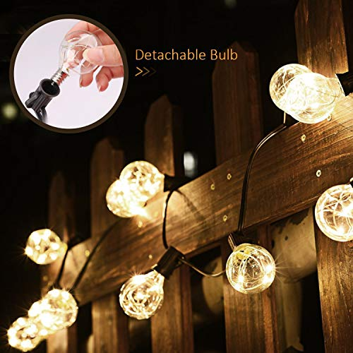 Decoration Lights,31Ft G40 Globe String Lights, LED Bulbs Low Voltage Waterproof Outdoor String Lights, UL Listed Hanging Backyard Patio Lights for Decor, Bedroom, Bedroom, Wedding, Party Cafe