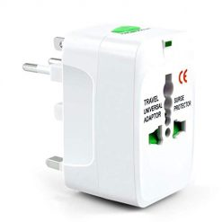 Caiuet US/UK/EU/AU Plug PC Rotatable Worldwide Travel Adapter for Mobile Phon Wall Chargers