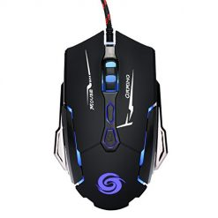 Best Gamers Mouse, SODIAL K1015 USB Wired Mouse 7 Buttons 4 Colors Led 4000 Dpi Adjustable Optical Gaming Mouse Gamer Professional Gaming Mouse Mice Wired Mause Black